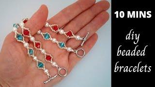 10 MINS Diy Beaded Bracelet. V…