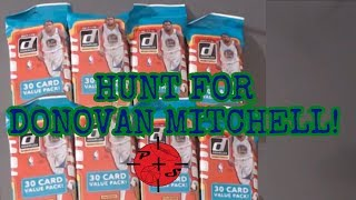 Hunt For Donovan Mitchell Challenge! 2017-18  Panini Donruss basketball cards opening!