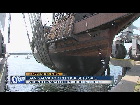 San Salvador replica sets sail