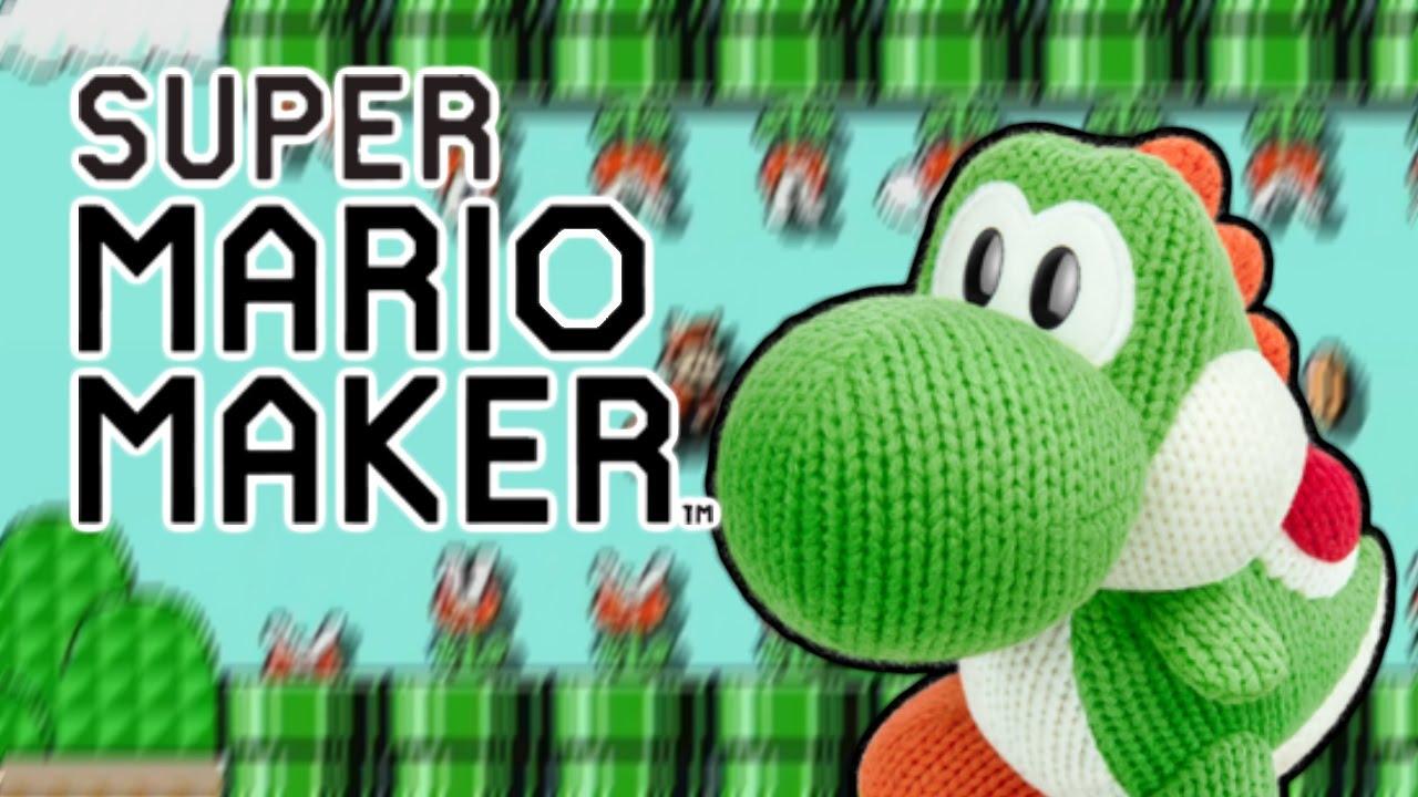 Super Mario Maker , Mega Yarn Yoshi Costume Overview