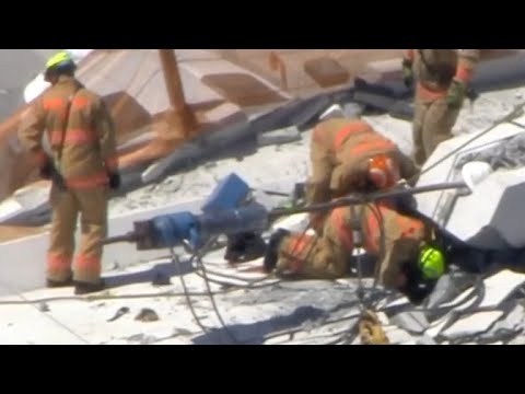 Bridge collapses at Florida International University in Miami