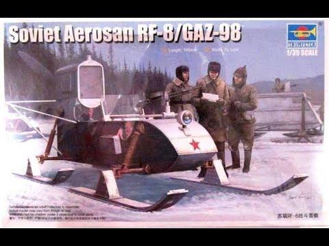 How to Build the Soviet Aerosan RF-8 GAZ/98 1:35  Trumpeter #02322 Review