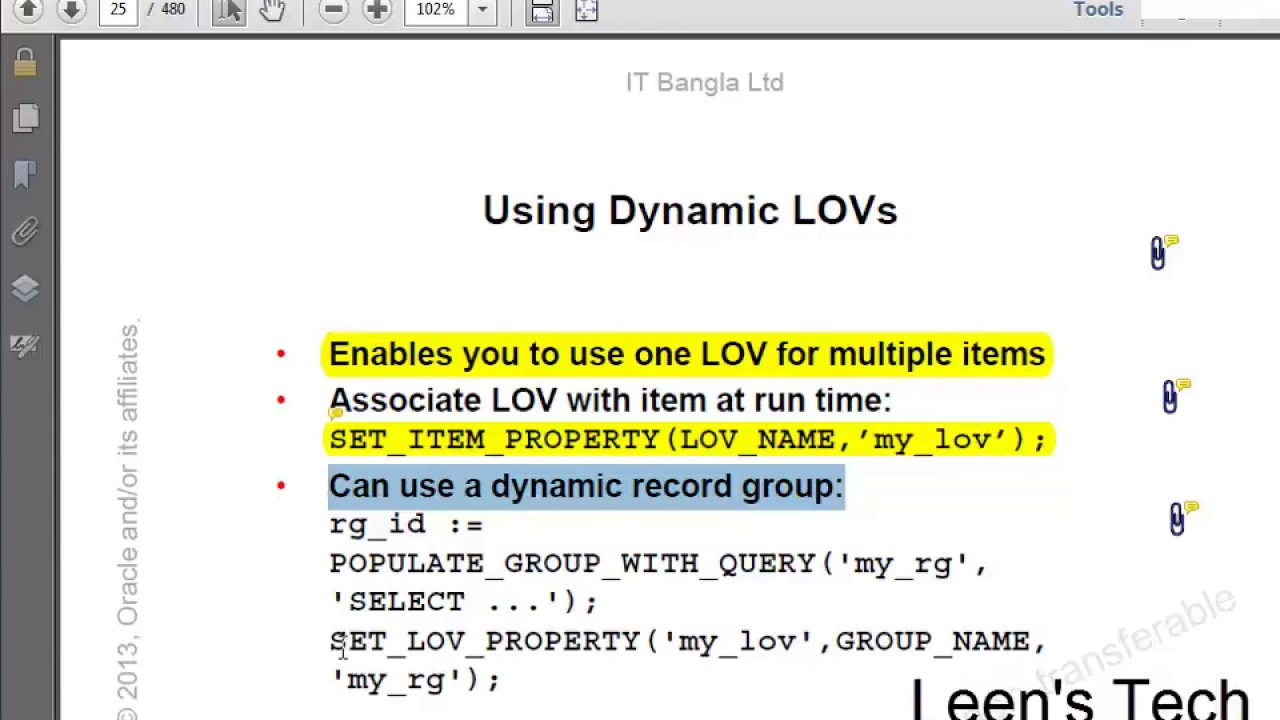 Oracle Forms 10g Tutorial in Bangla: Dynamic Record Group for LOV