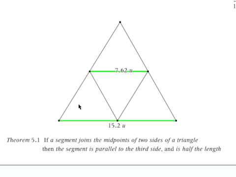 Triangle Midsegment Theorem Explained Visually Youtube