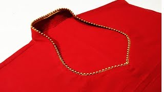 Latest halter neck design cutting and stitching for Kurti/ Suit / Blouse In Easy Way