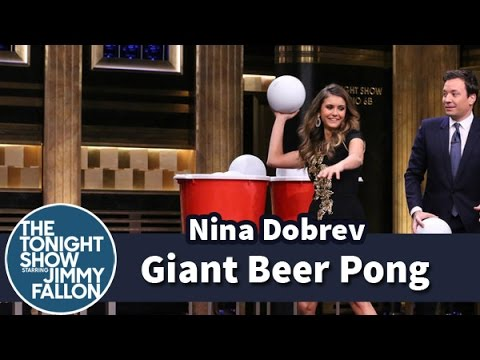 Thumbnail: Giant Beer Pong with Nina Dobrev
