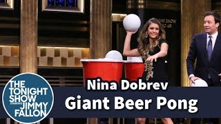 Giant Beer Pong with Nina Dobrev thumbnail