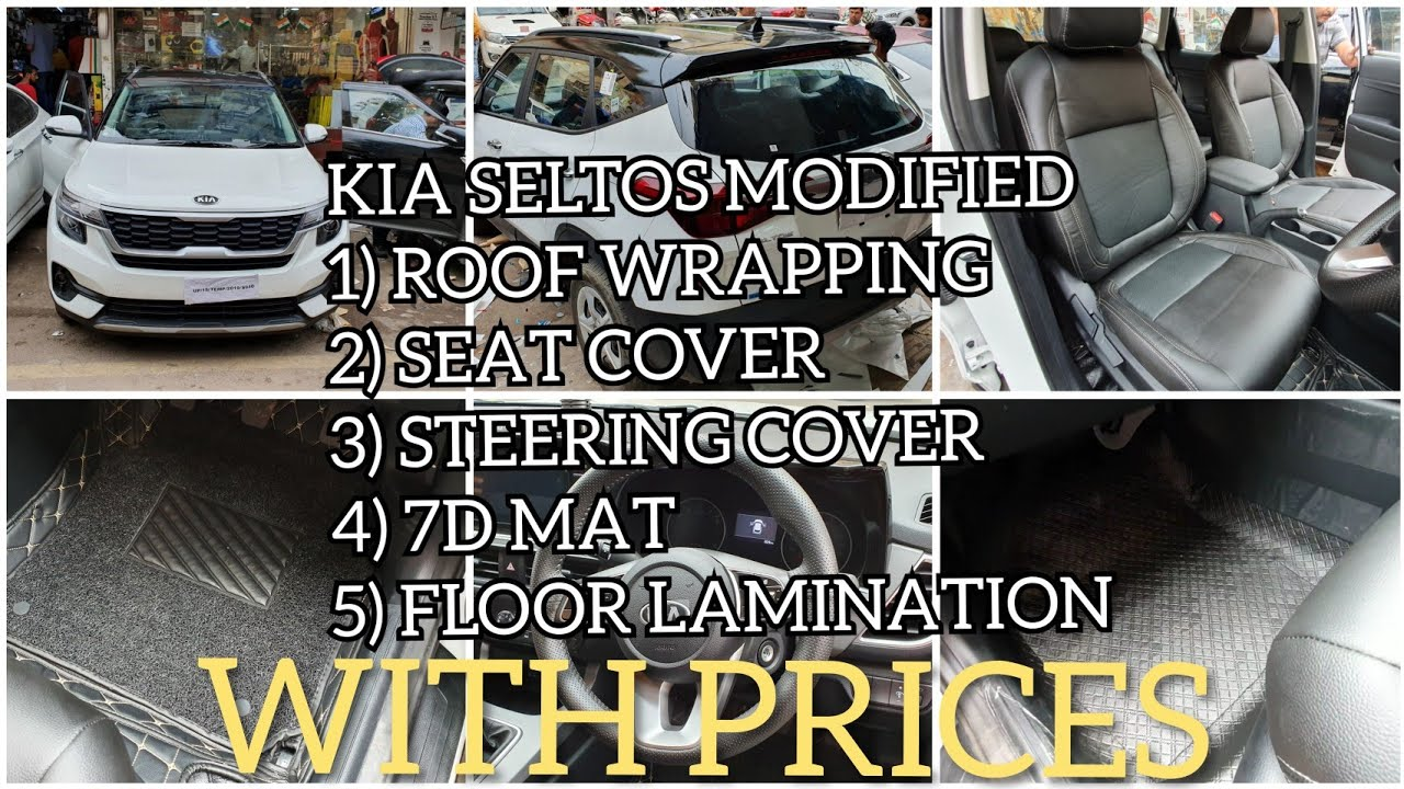 Kia Seltos Modified Seat Cover Roof Wrapping 7d Mat And More Youtube