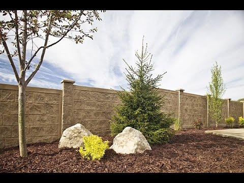 How to Install a RhinoRock concrete fence - YouTube