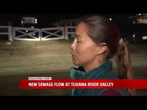 New Sewage Flow At Tijuana River Valley