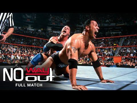 FULL MATCH - Kurt Angle vs. The Rock – WWE Title Match: WWE No Way Out 2001