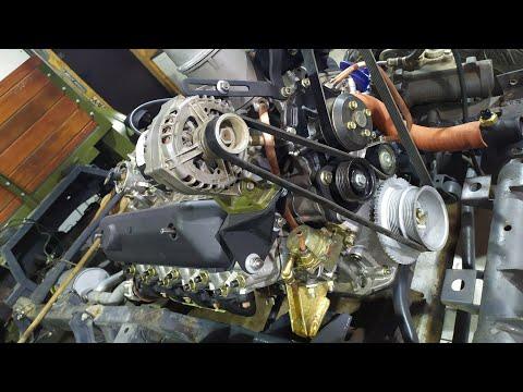 Проект пикап ЗиЛ. Двигатель на месте.