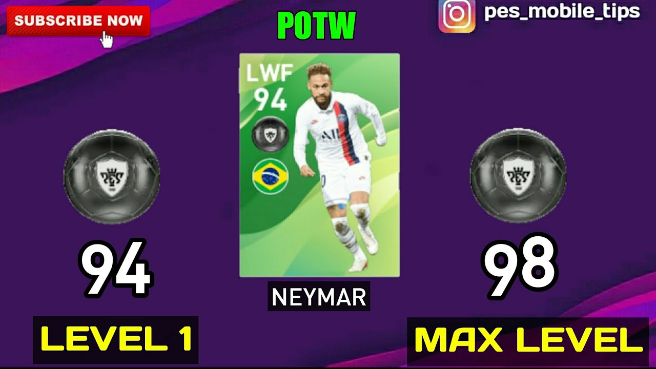 POTW - Worldwide Dec 12 '19 Players Max Level Ratings   PES 2020 Mobile