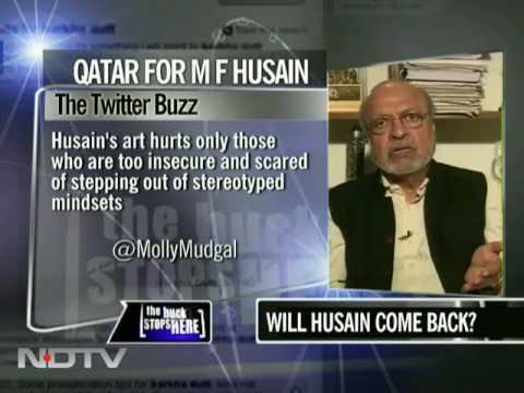 M F Husain, Indian no more?
