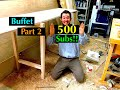 Diy: How to Build a Custom Buffet Server Table Cabinet Part 2