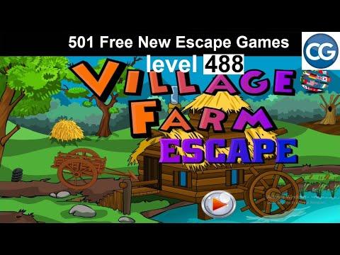 [Walkthrough] 501 Free New Escape Games Level 488 - Village Farm Escape - Complete Game