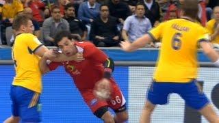 ملخص اهداف ولمسات أحمد الاحمر في مباراة مصر و السويد ودلع المعلق له