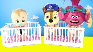 Dreamworks Trolls Babies Bedtime Routine with DIY Play Doh Food #withme
