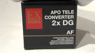 [Review]Sigma Apo Tele Converter 2 0X Ex Dg Fcanon Eos Digital SLR Camera & Photo