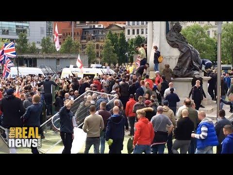 Anti-Muslim Manchester Demo Unites Britain's Far-Right