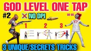 God Level One Tap Perfect Shots🎯 Without Dpi and Skin m1887 3 Unique Secrets Tricks