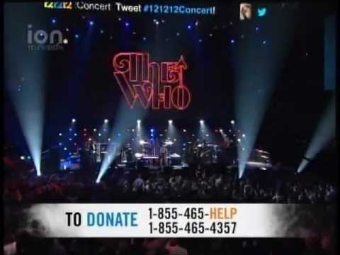 121212 SANDY RELIEF CONCERT - THE WHO - WHO ARE YOU