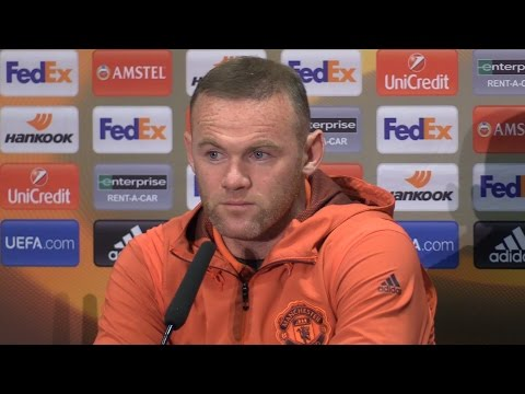 Wayne Rooney Full Pre-Match Press Conference - Manchester United v Celta Vigo - Europa League