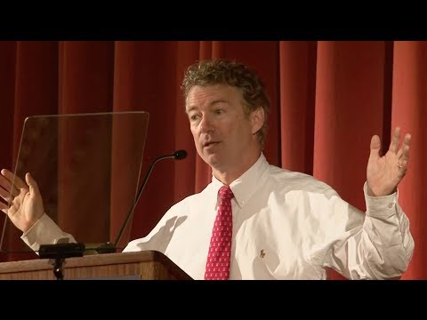 Senator Rand Paul Speaks at Berkeley Forum