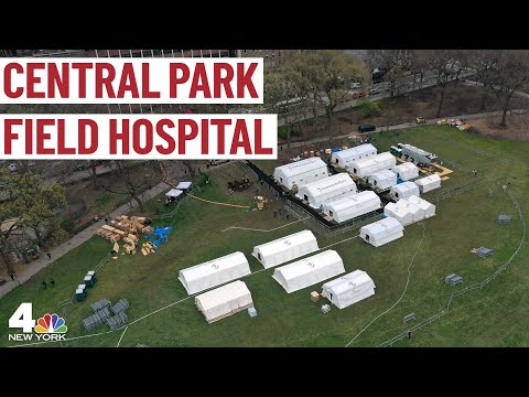 A Look At Central Park's Coronavirus Field Hospital | NBC New York