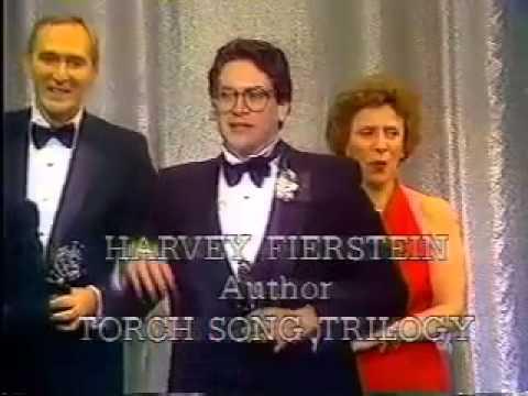 Harvey Fierstein wins 1983 Tony Award for Best Play