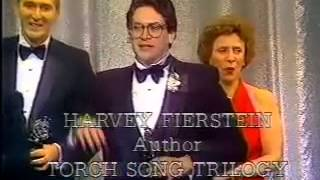 Harvey Fierstein wins 1983 Tony Award for Best Play