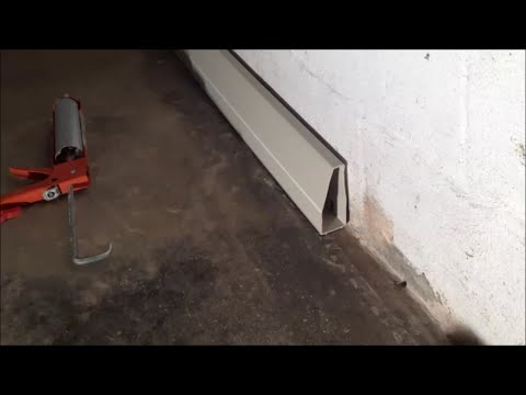 Interior Drainage System for DIY Basement Waterproofing
