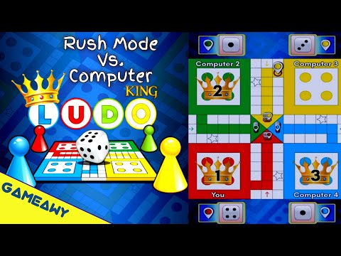LUDO Game On Mobile | LUDO King Mobile Rush Mode Vs Computer | Board Games | Gameawy