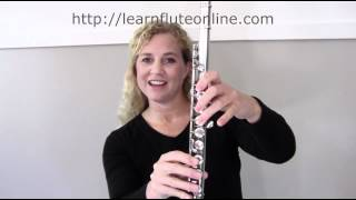 Learn Flute Online: Play B, A, G -Module 04 Online Flute Lessons(http://learnfluteonline.com Learn How to Play the Flute step-by-step Online with Rebecca. It's Flute Lessons Online! This video is part of Module 04 all about ..., 2012-03-15T19:05:11.000Z)