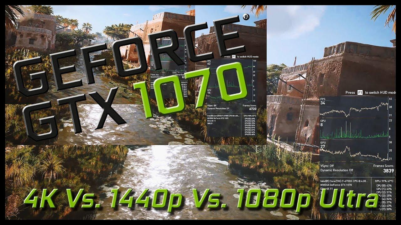 Assassin's Creed Origins | Intel i7 6700k & NVIDIA GTX 1070 | 4K v  1440p  v  1080p ULTRA