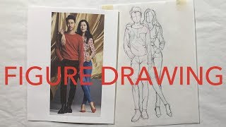 Fashion Figure Drawing Tutorial: Proportions in Drawing Couples