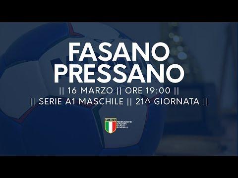 Serie A1M [21^]: Junior Fasano - Pressano 21-19