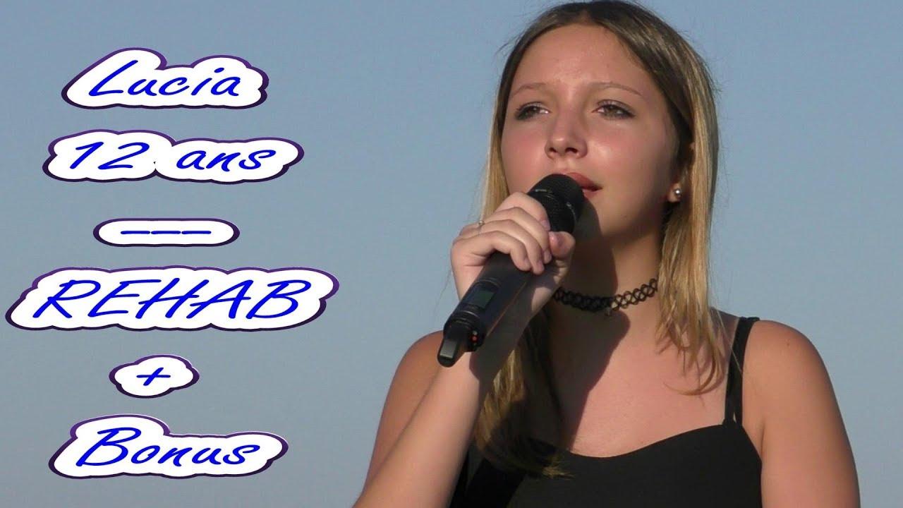 Amy Delucia cover de lucia 12 ans sur chanson amy winehouse - rehab