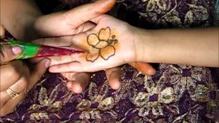 Applying Henna/Mehndi on Kids Design-2 Butterfly