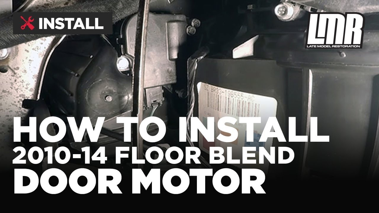 How To Replace Mustang Floor Vent Blend Door Motor 2010 2014 Youtube