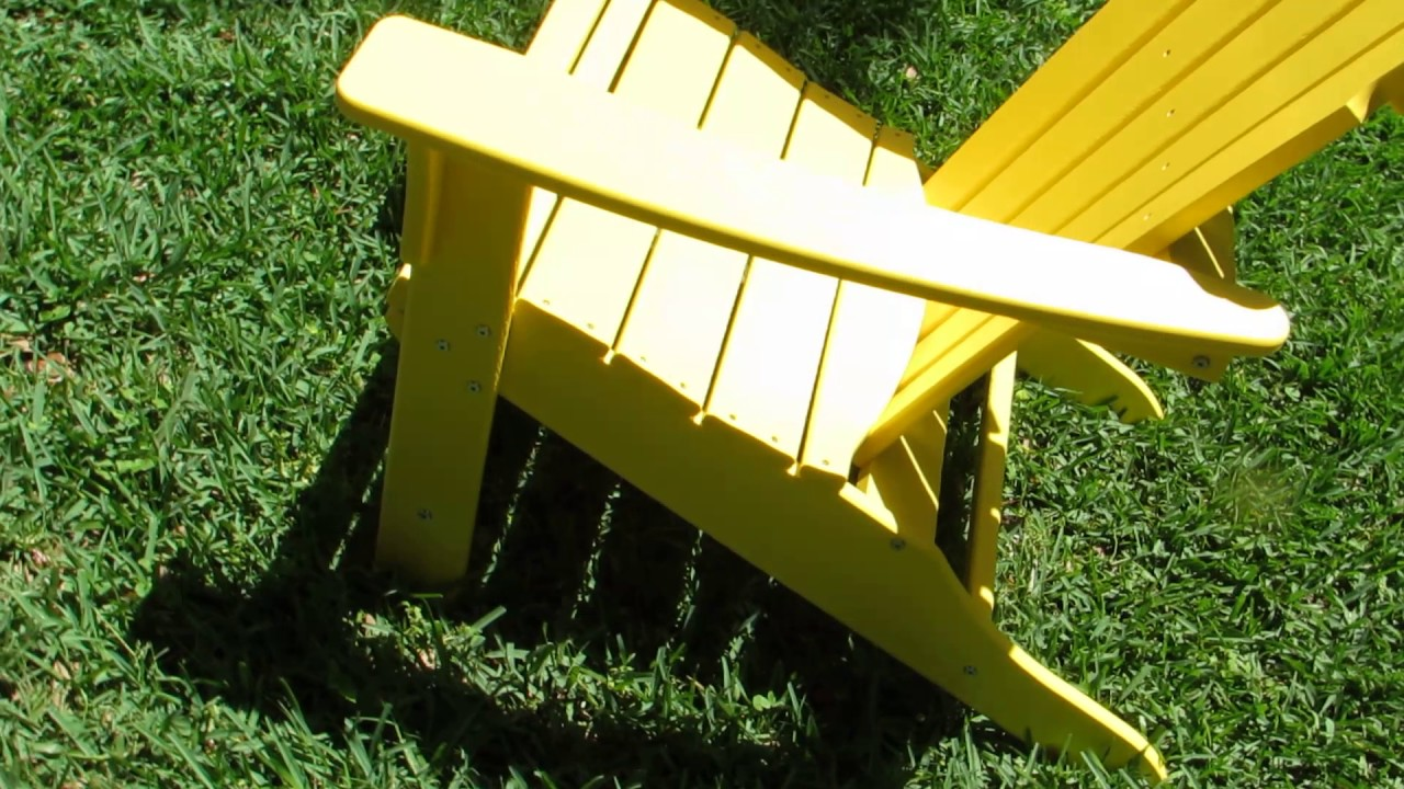 diy adirondack chair trex high table and chairs for kitchen outdoor furniture hd lemon patio 360 video