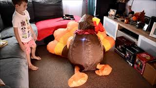 Turkey Airblown Inflatable 5ft tall - unboxing