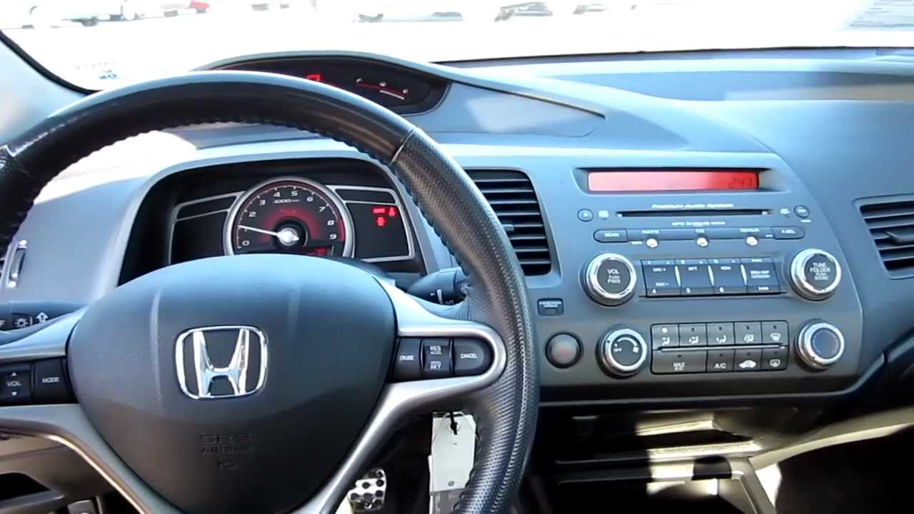 2007 honda civic si silver stock h1988 interior youtube. Black Bedroom Furniture Sets. Home Design Ideas