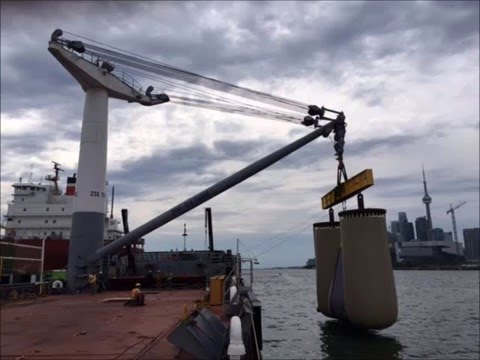Stulken Derrick Crane Load Proof Test Barge COASTAL TITAN Sept 2015