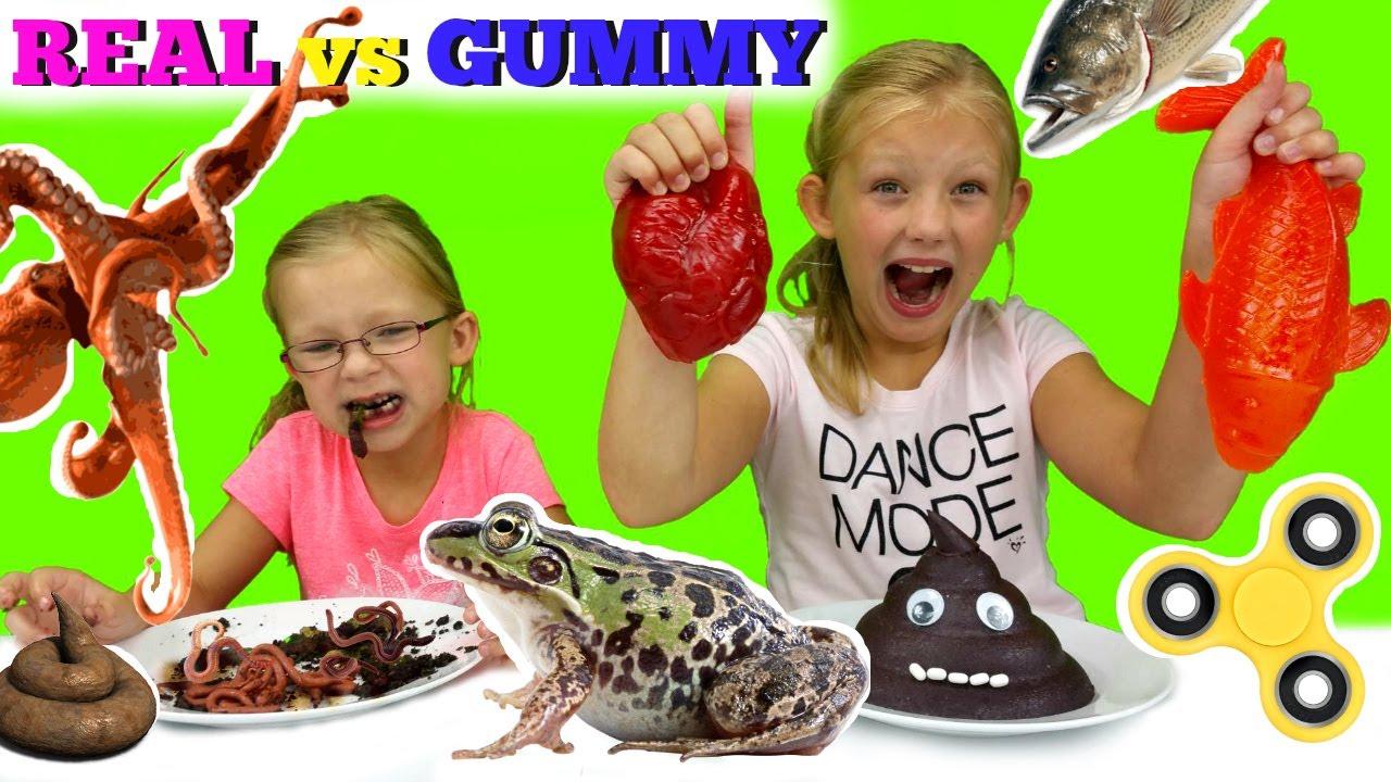 Real Vs Gummy Food Youtube