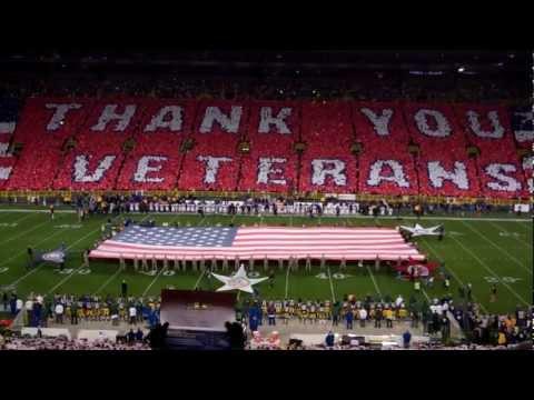 Salute to Veterans - Lambeau Field - Nov 14, 2011