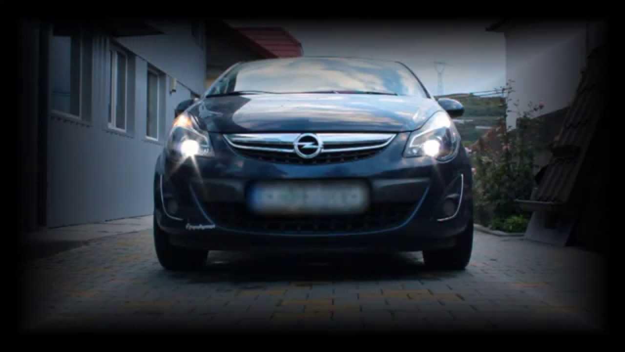 Corsa D 2011 Full Led Bulbs Xenon Headlights Youtube