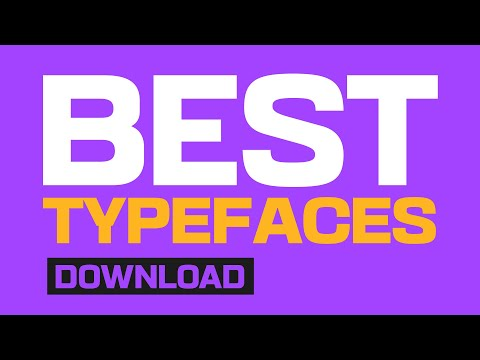 MY BEST TYPEFACES FOR GRAPHIC DESIGN!! (Must Have Typefaces)