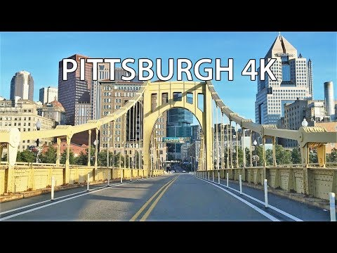 Driving Downtown - Pittsburgh Pennsylvania USA