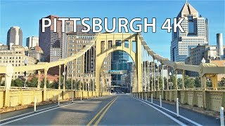 Driving Downtown - Pittsburgh 4K - USA